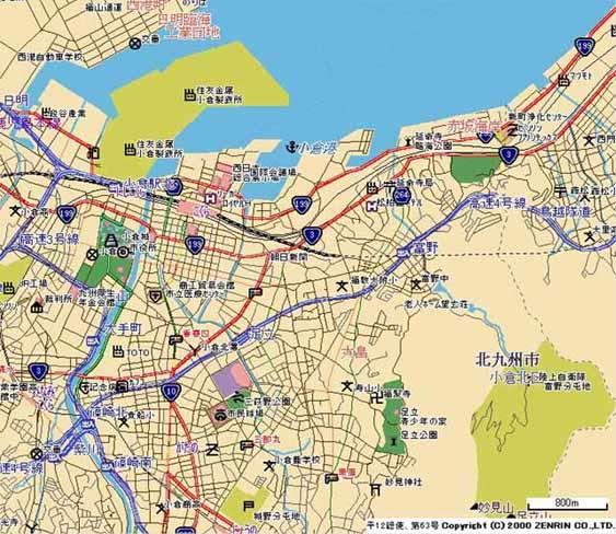 北九州市小倉北区地図