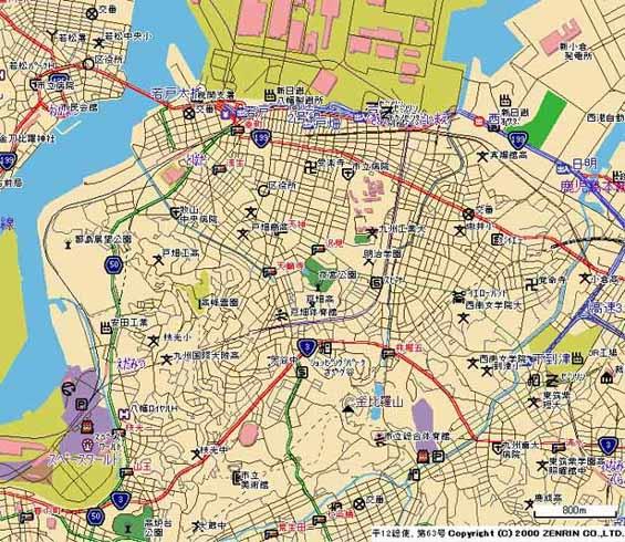 北九州市戸畑区地図