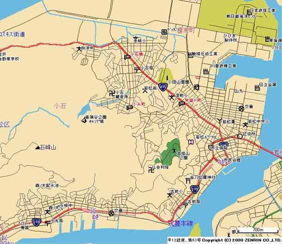 北九州市若松区地図